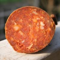 Salami wołowe z szarego bydła, lekko ostre, 100 gr