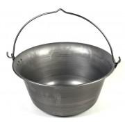 Kociołek żelazny 14 l - surowa stal